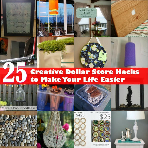 25 Creative Dollar Store Hacks to Make Your Life Easier
