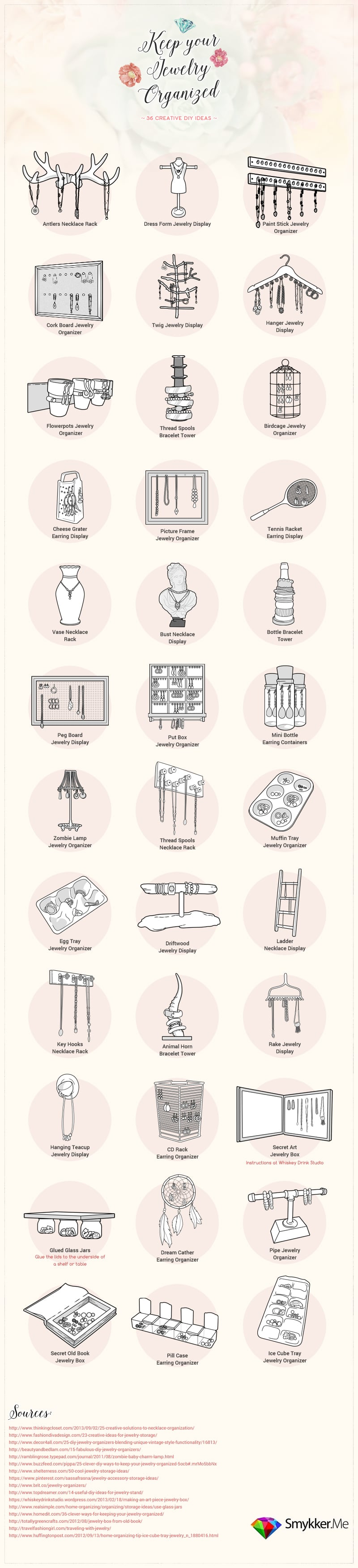 25 brilliant diy jewelry organizing and storage projects - page 2, Presentation templates