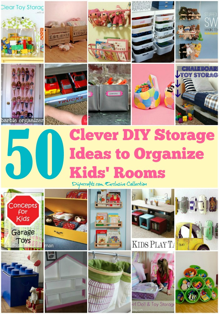50 clever diy storage ideas to organize kids 39 rooms page for Storage for kids rooms
