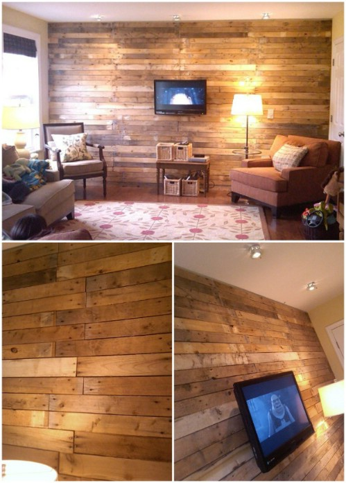 15 Creatively Genius Diy Wood Walls Diy Amp Crafts