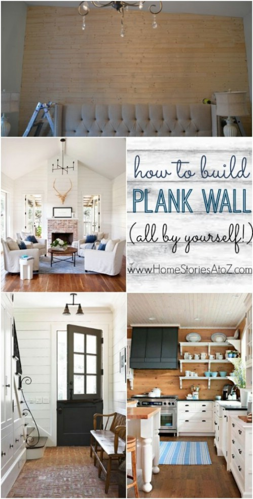 Tongue and Groove Plank Wall