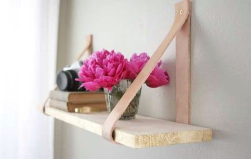 Leather Strapped Shelf