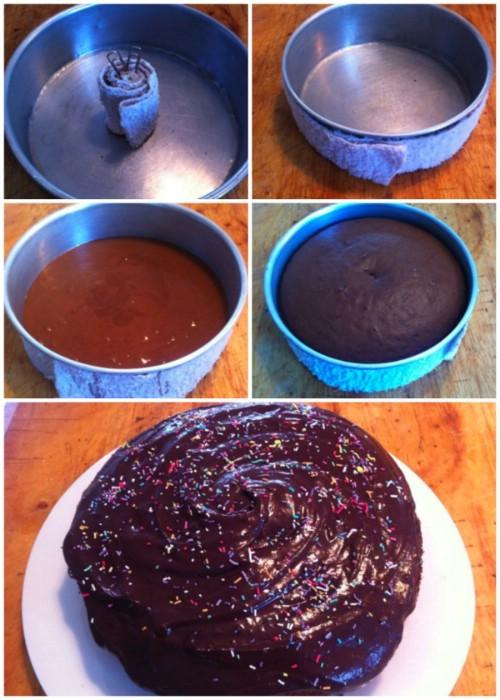 Get flatter, evenly baked cakes.