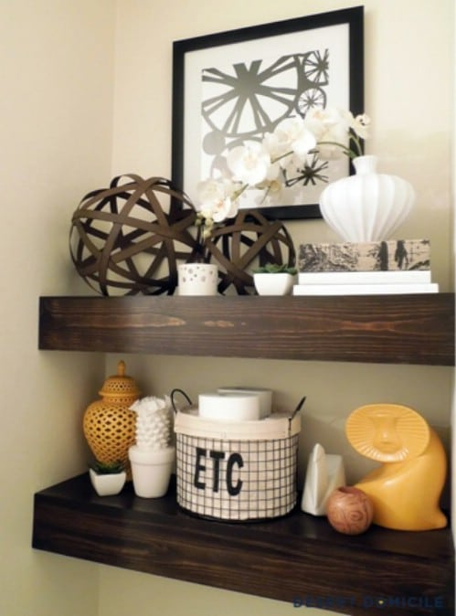 Rustic Bathroom Shelves