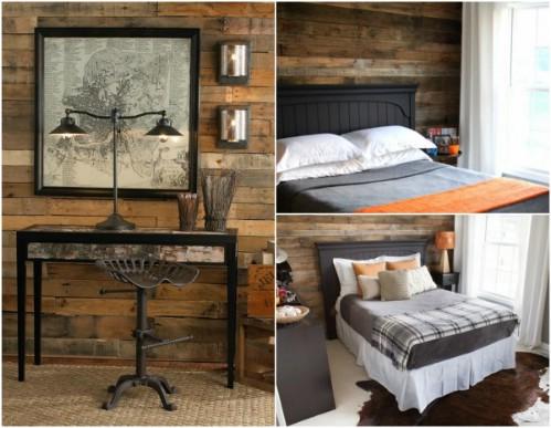 Rustic Bedroom Wall