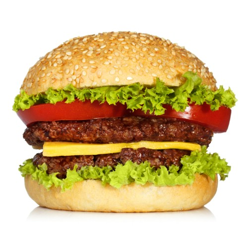 Keep large hamburger patties from getting too thick.