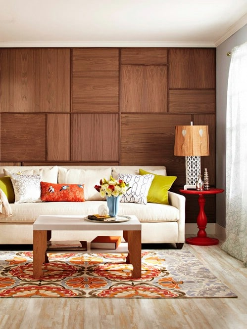 Wood Grain Wall