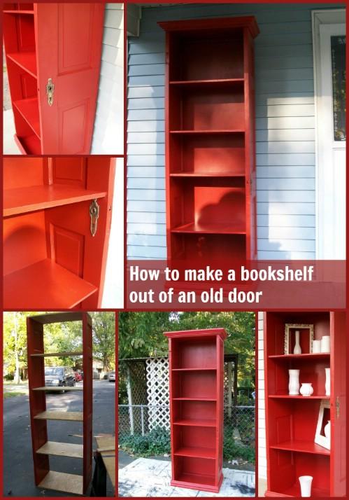 Repurposed Door Shelf