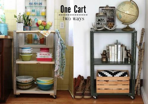 Easy Kitchen Shelving Cart