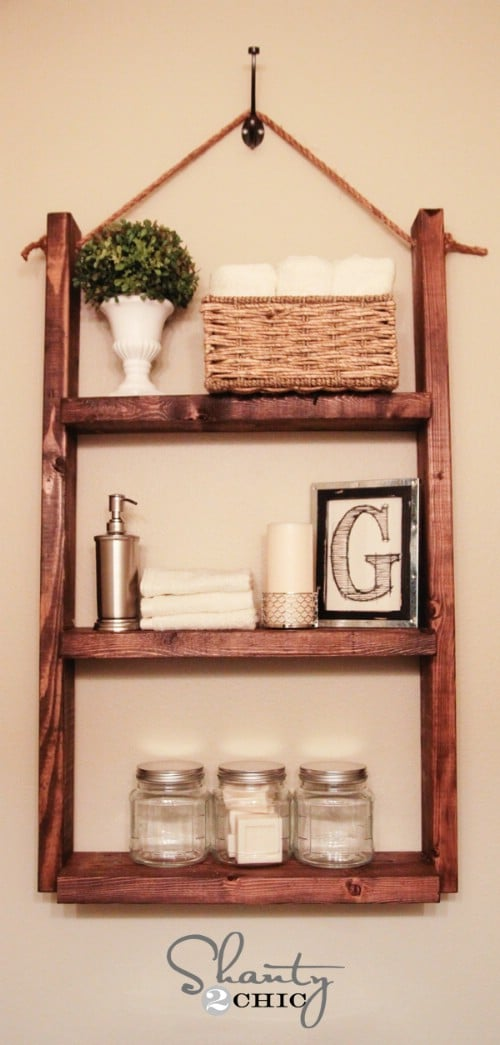 Nice $10 Hanging Bathroom Shelf