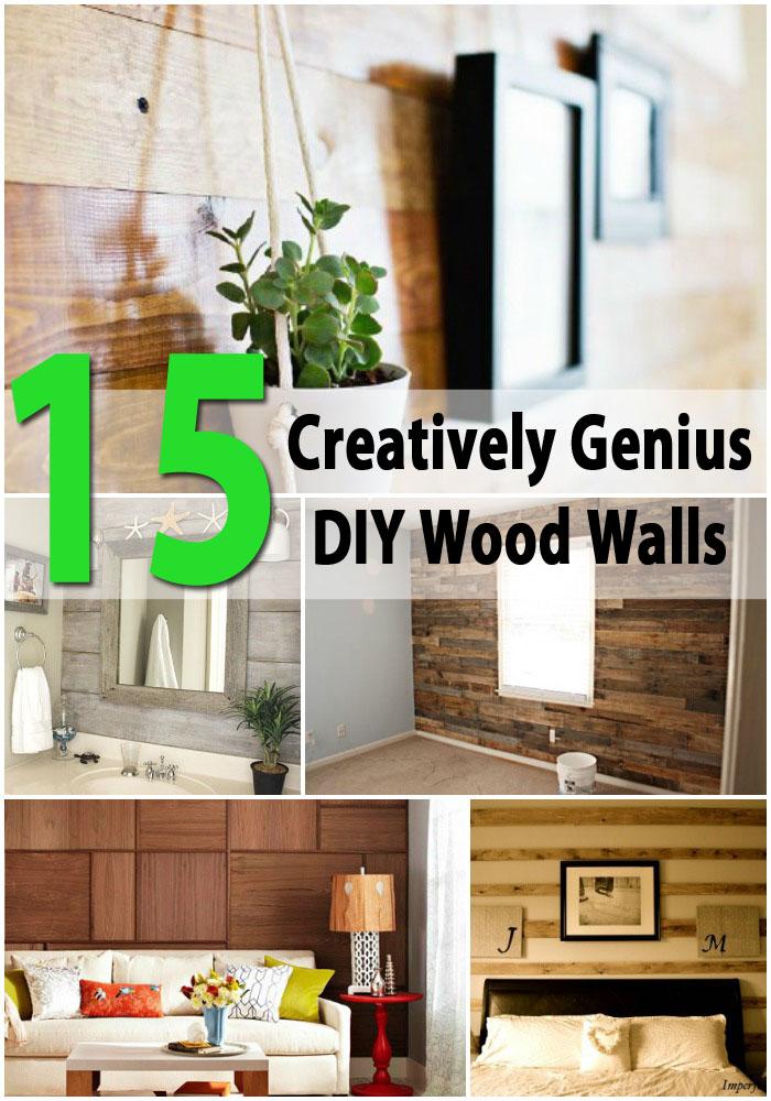 15 Creatively Genius DIY Wood Walls