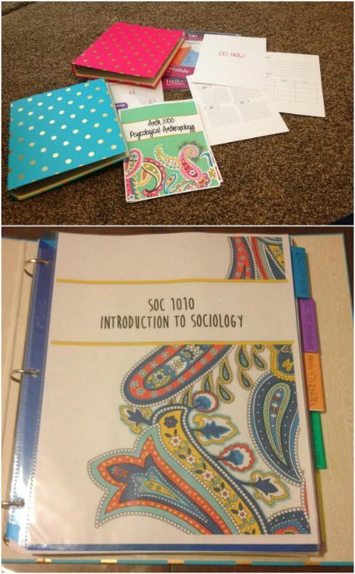 Make a great student binder for college.