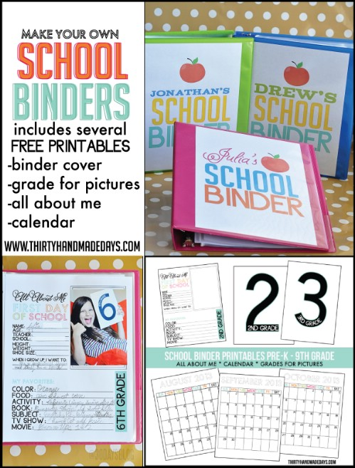 School binders are perfect for younger students too