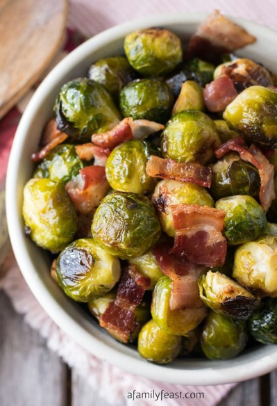 Oven Roasted Bacon Brussels Sprouts