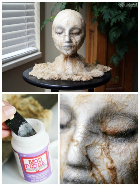 ghastly severed head - Diy Scary Halloween Decorations