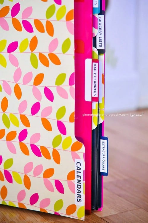 Stay organized with a baby with a household organization binder