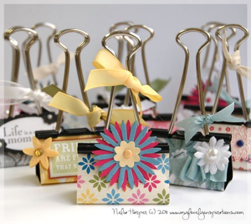 Take your beautified binder clips to the next level.