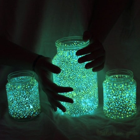jars to light up a house of horrors - Light Up Halloween Decorations