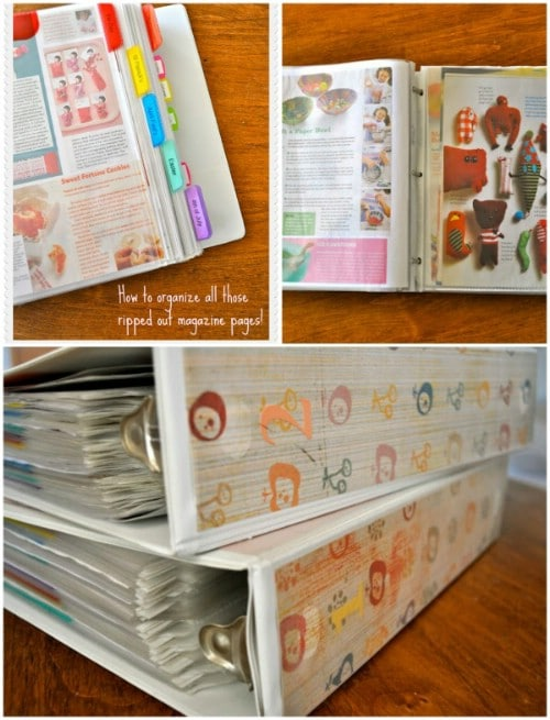 Organize your random ripped-out magazine pages
