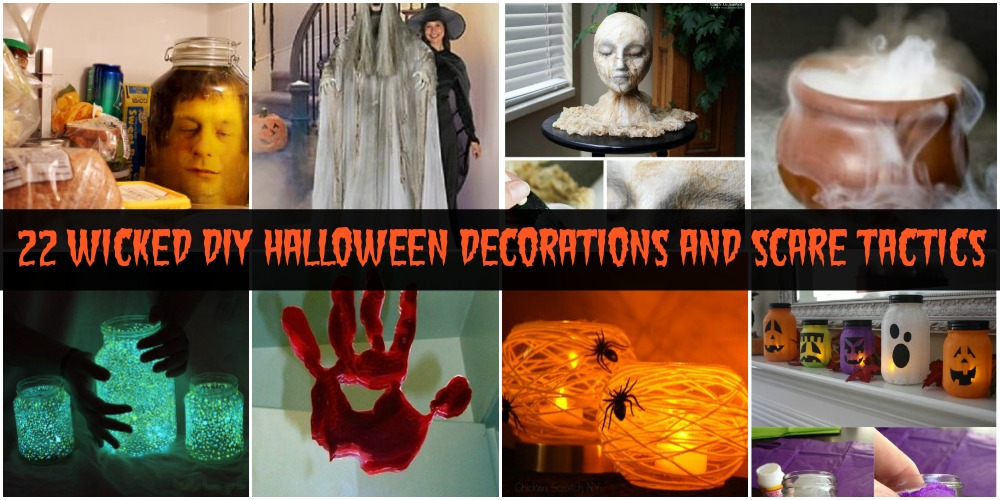 22 wicked diy halloween decorations and scare tactics diy crafts - Scary Diy Halloween Decorations