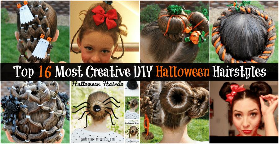Top 16 most creative diy halloween hairstyles diy crafts solutioingenieria Images