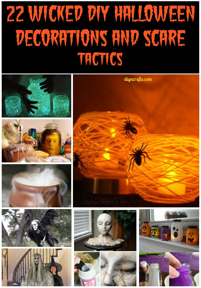 22 wicked diy halloween decorations and scare tactics. Black Bedroom Furniture Sets. Home Design Ideas
