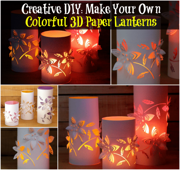 Creative diy make your own colorful 3d paper lanterns diy crafts creative diy make your own colorful 3d paper lanterns maxwellsz