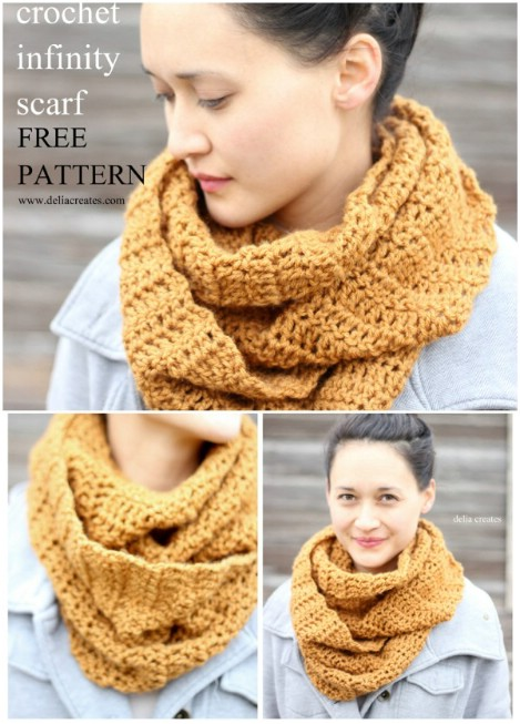 40 Cozy DIY Infinity Scarves With Free Patterns And Instructions Fascinating Crochet Infinity Scarf Pattern In The Round