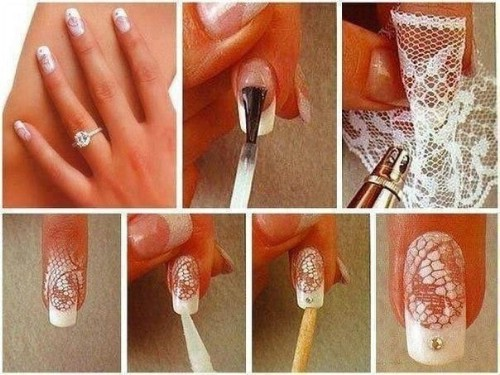 40 diy nail art hacks that are borderline genius diy crafts lace nails solutioingenieria Gallery