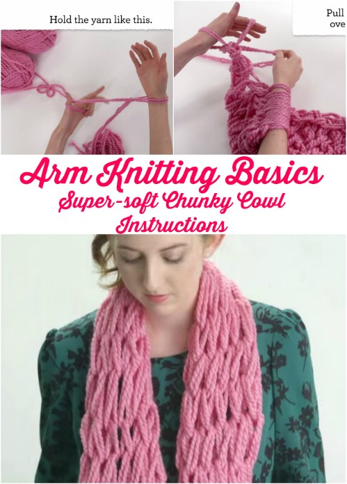 Knitting With Your Arms Instructions : Insanely clever arm knitting projects and techniques