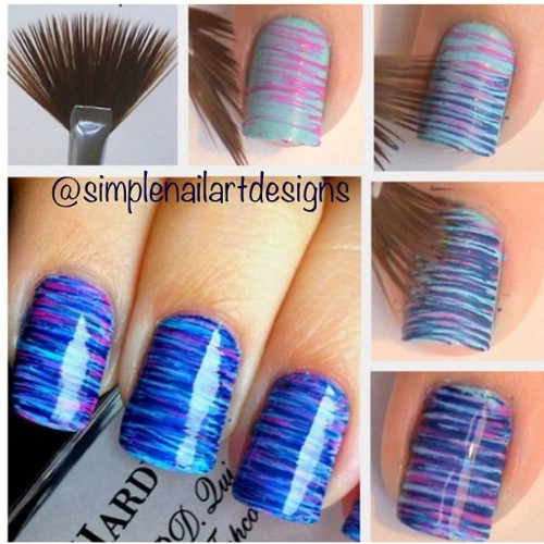 Thin Stripy Nails - 40 DIY Nail Art Hacks That Are Borderline Genius - DIY & Crafts
