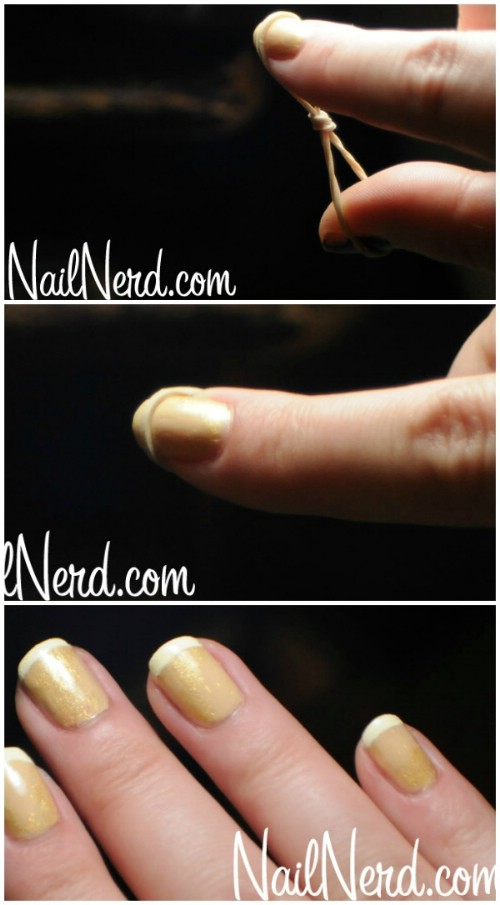 Rubber Band French Manicure