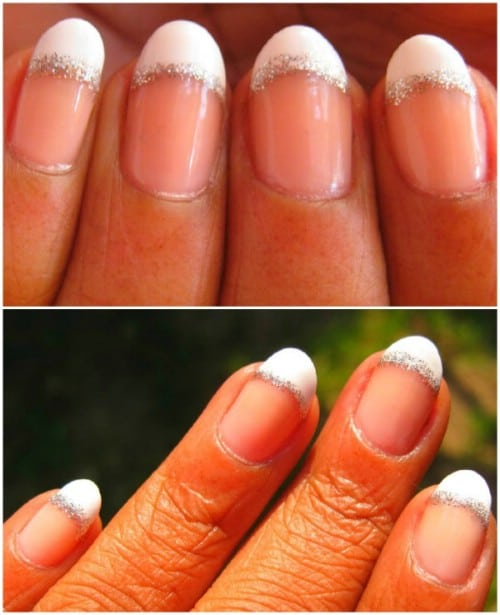 40 diy nail art hacks that are borderline genius diy crafts french mani touch up prinsesfo Image collections