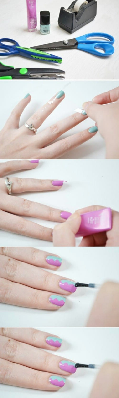 40 diy nail art hacks that are borderline genius diy crafts shearing scissors as a tool solutioingenieria Image collections