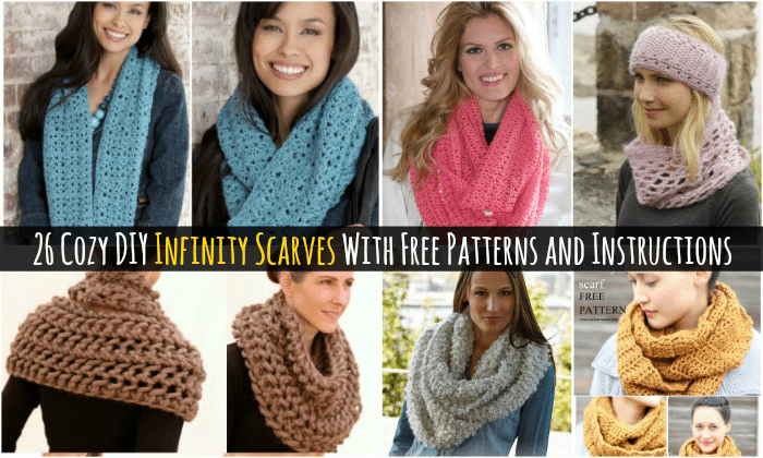 Knitting Scarf Patterns Infinity Scarf : 26 cozy diy infinity scarves with free patterns and instructions