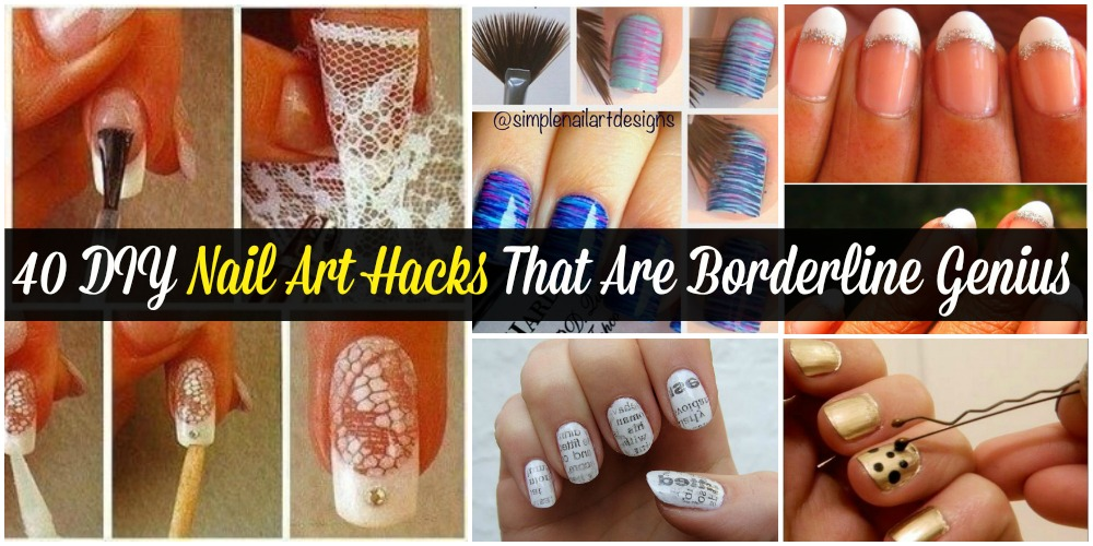 40 diy nail art hacks that are borderline genius diy crafts solutioingenieria Image collections