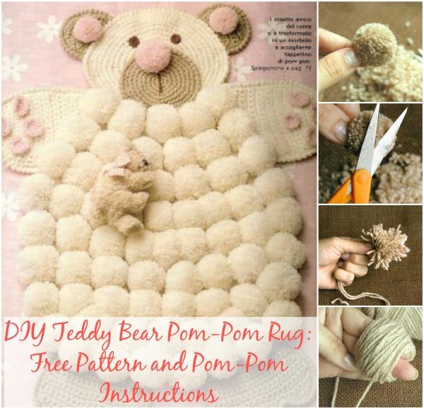 Diy Gorgeous Teddy Bear Pom Pom Rugs Bonus Colorful Rugs