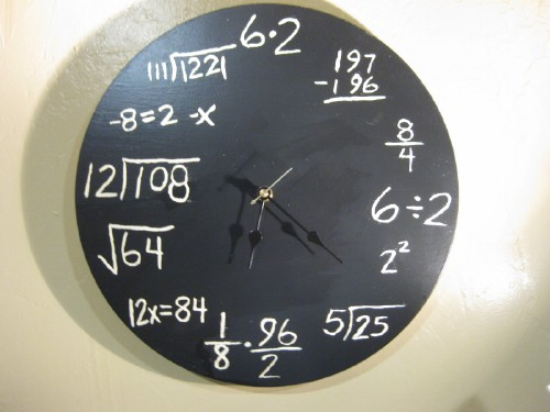 Customized wall clock.