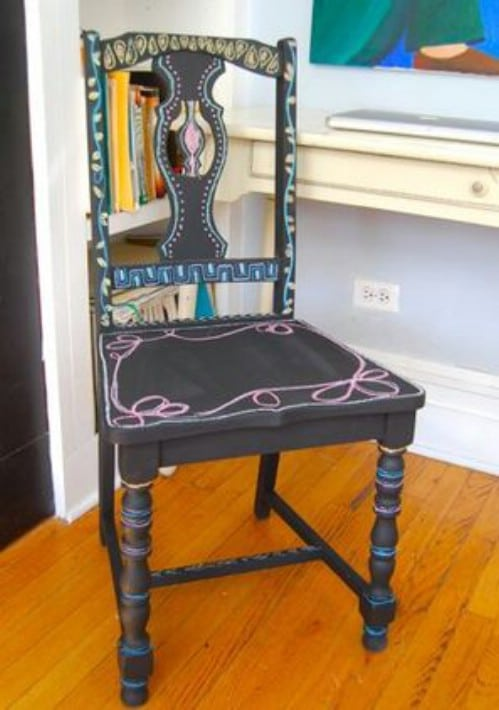 Decorate a chair.