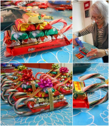 Candy Sleighs - 100 Mind-Blowing DIY Christmas Gifts People Actually Want - DIY & Crafts