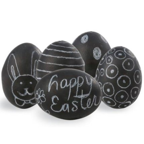 Easter chalk eggs.