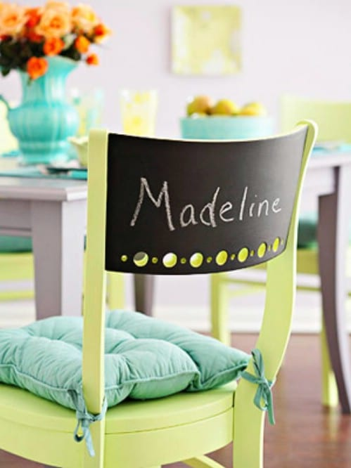 Another chalkboard chair idea.