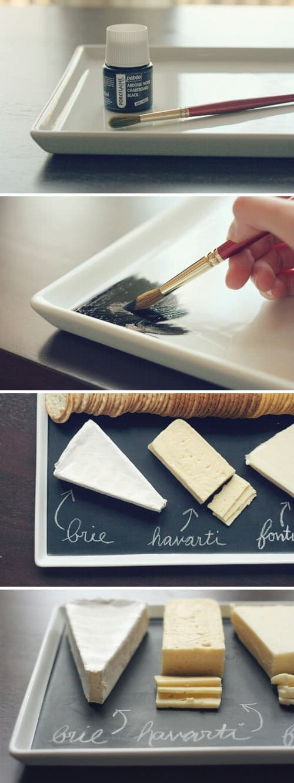 Chalkboard serving platter.