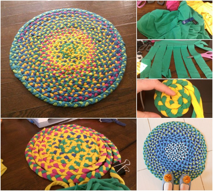 craft ideas for old t shirts creative use for t shirts braid them into a 7594