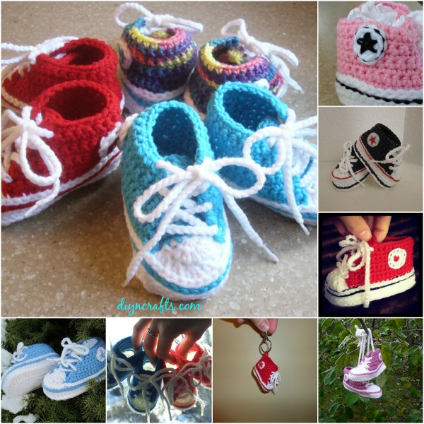 Free Pattern Adorable Crocheted Baby Converse Diy Crafts