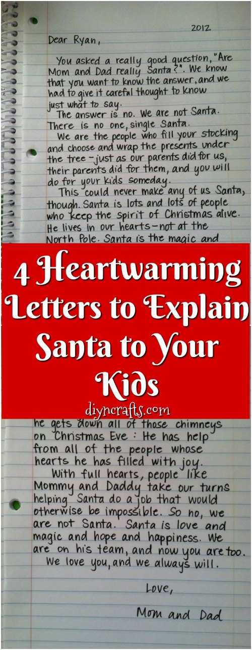 4 Heartwarming Letters To Explain Santa To Your Kids Diy