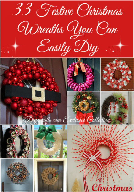 33 festive christmas wreaths you can easily diy