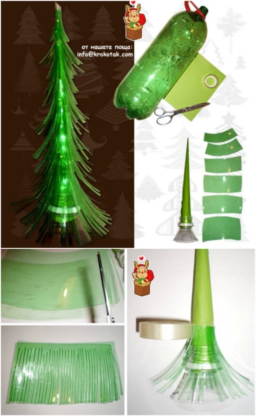 20 genius diy recycled and repurposed christmas crafts diy crafts plastic bottle tree 20 genius diy recycled and repurposed christmas crafts solutioingenieria Gallery