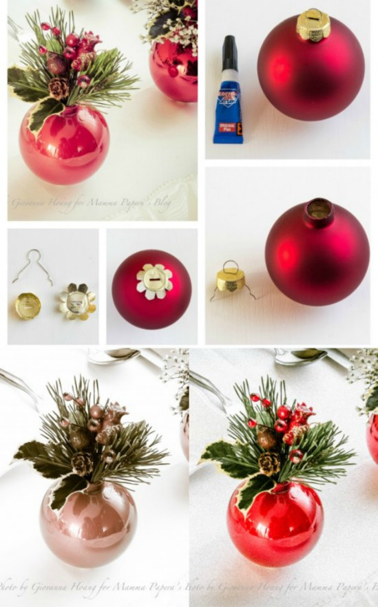 ornament vases - Diy Christmas Centerpieces