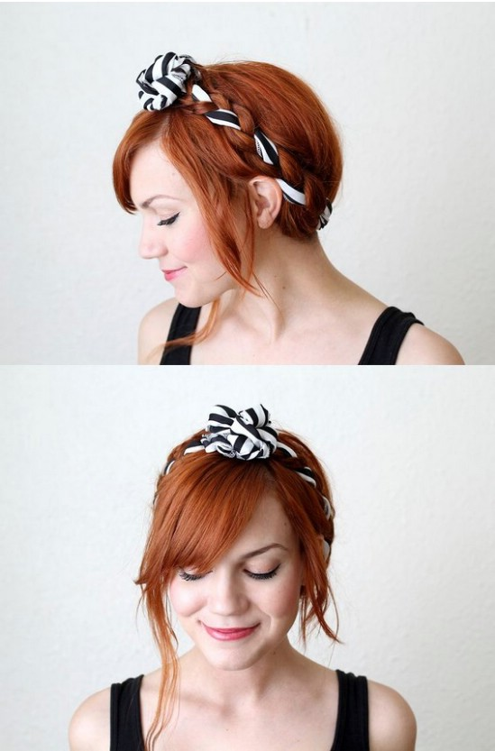 12 super cute diy christmas hairstyles for all lengths diy crafts fabric maiden braid 12 super cute diy christmas hairstyles for all lengths solutioingenieria Gallery